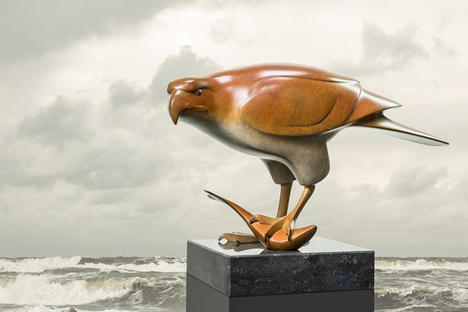 Roofvogel met vis