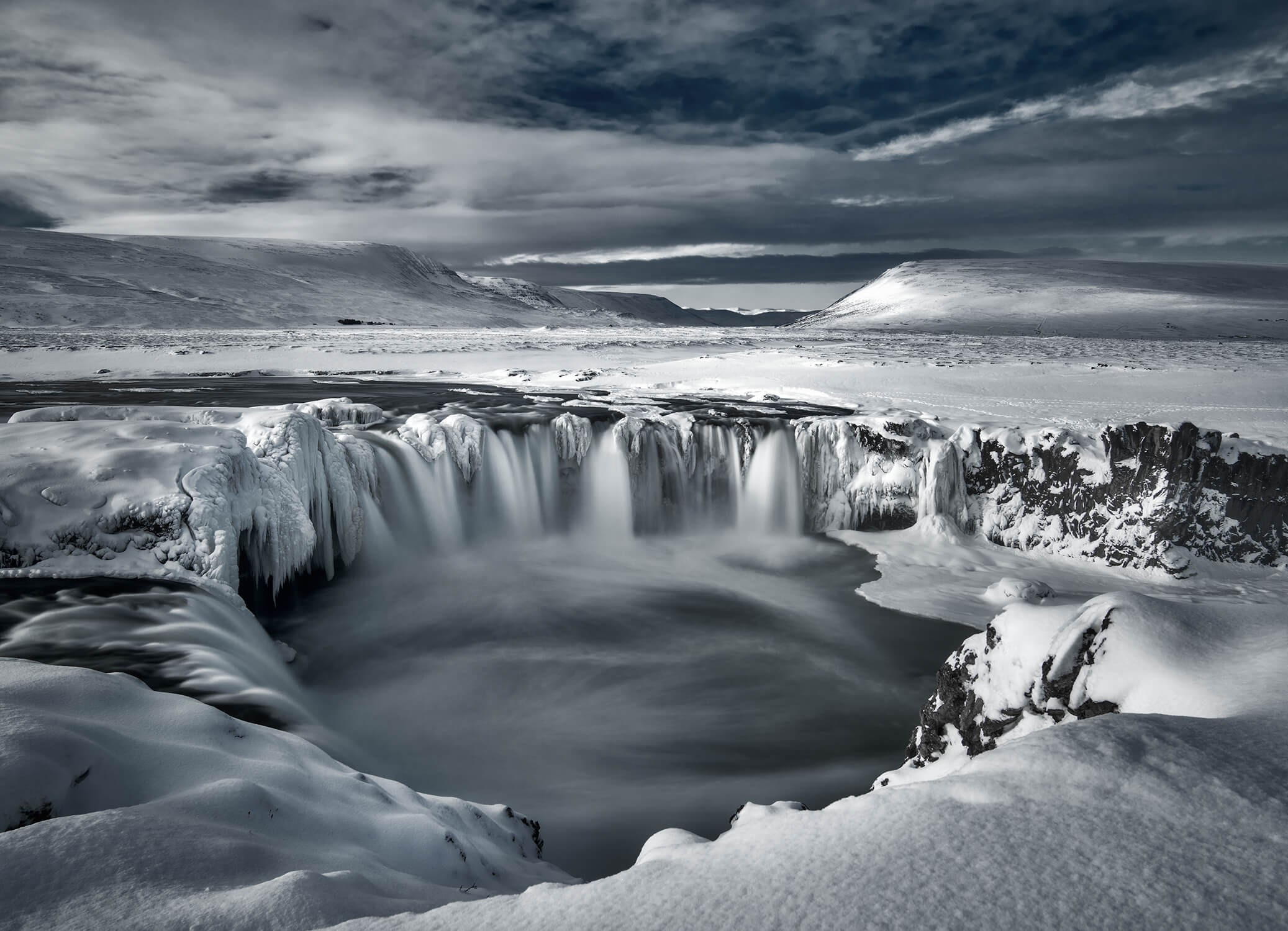 Godafoss in de winter